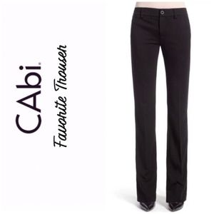 CABi #575 Favorite Trouser Black Stretch Pants 12